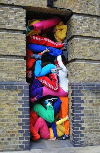 Performance art group Bodies in Urban Spaces