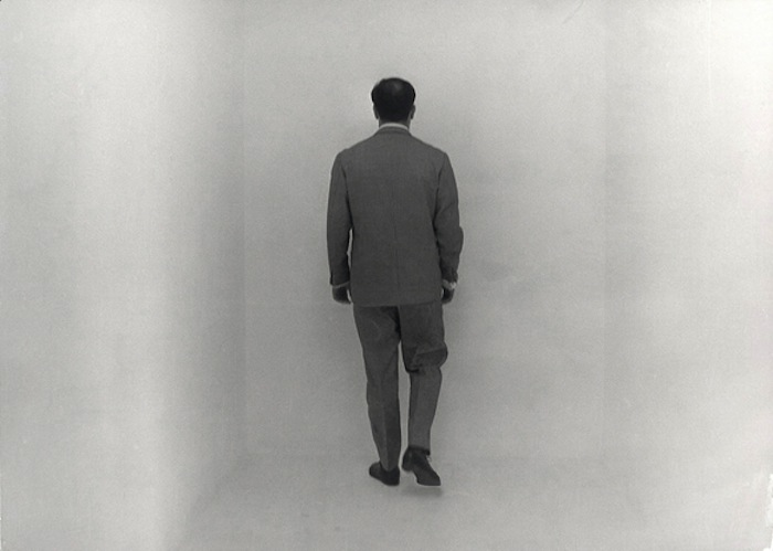 In 1957 Yves Klein created the first public display of invisible art: an empty white-walled room filled with what he called 'immaterial pictorial sensibility.' It was some 15 years later (in 1973) that Lucy R. Lippard used what is not a common language term 'de-materialisation' to describe a form of art in which idea is the arts material and physical form is often unrealised. Today we call this type of art 'Conceptual'. (Image: Yves Klein in the Void Room, Museum Haus Lange, Krefeld, 1961)