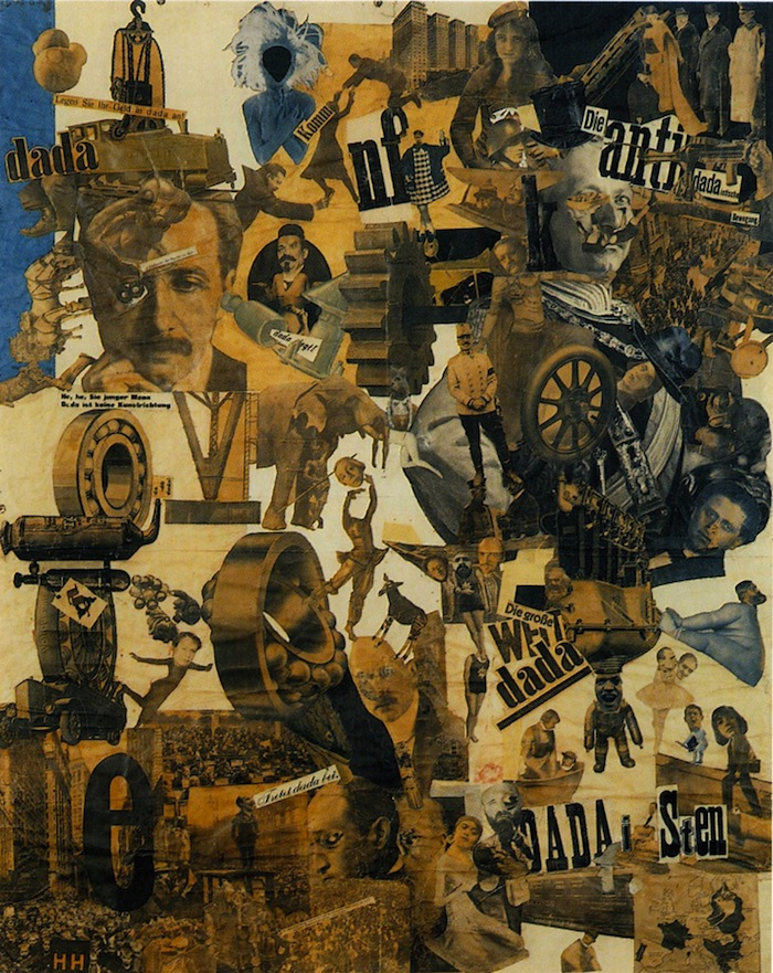 Hannah Höch, Cut with the Dada Kitchen Knife through the Last Weimar Beer-Belly Cultural Epoch in Germany, 1919, collage of pasted papers, 90x144 cm