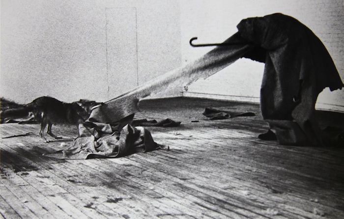 Joseph Beuys gives interview at the Institute of Contemporary Art in 1974, where his exhibition called Art into Society, Society into Art took place as the main feature of German Art which presented aspects of German preoccupation with the relationship between art ideology and politics.