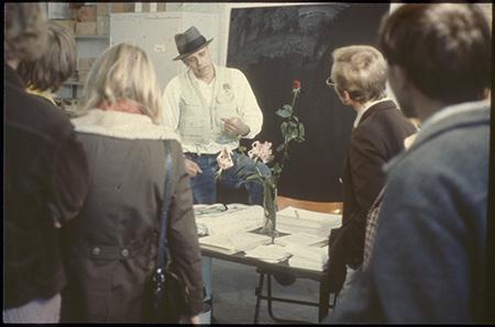 Fig. 2: Joseph Beuys, Office for Direct Democracy through Referendum, 1972. Documenta V, Kassel.
