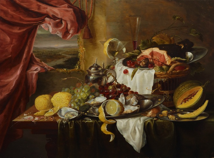 Still life with imaginary view, circa 1645-circa 1650. Laurens Craen (circa 1620-between 1665-1671), Dutch. Oil on panel, 63.4 x 85.3 cm. Art Gallery of NSW, Sydney, Australia.