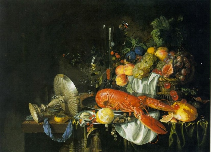 Still Life with a Lobster, late 1640s. Jan Davidsz de Heem (1606-1684), Dutch. Oil on canvas, 25 x 33-1/4 in. The Toledo Museum of Art, Toledo, Ohio.
