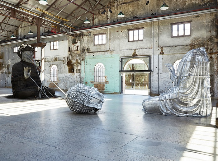 Zhang Huan, Sydney Buddha, installation at Carriageworks, Jan-March 2015