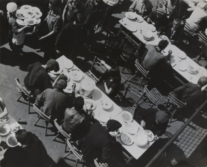 A. Rodchenko – V. Stepanova Archive Moscow House of Photography Museum_Lunch, Mechanized Canteen. 1932 Vintage Print Collection of Moscow House of Photography Museum: Multimedia Art Museum Moscow